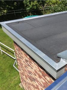 Zink- en dakbedekking aanbouw woonhuis